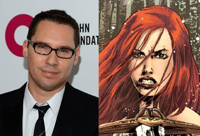 Il regista Bryan Singer e l'eroina Marvel Red Sonja
