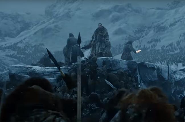 GOT 7: Jon Snow con un manipolo di uomini nel Nord