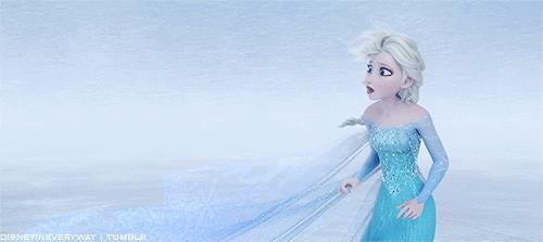 Una scena di Frozen