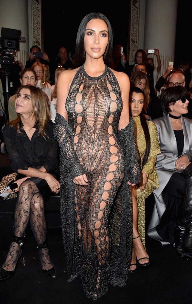 Kima Kardashian alla Parigi Fashion Week
