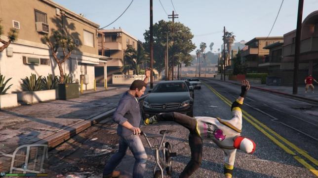 Un'immagine di gioco da GTA V