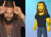 Jason Momoa sbarcherà nei Simpson: il collage