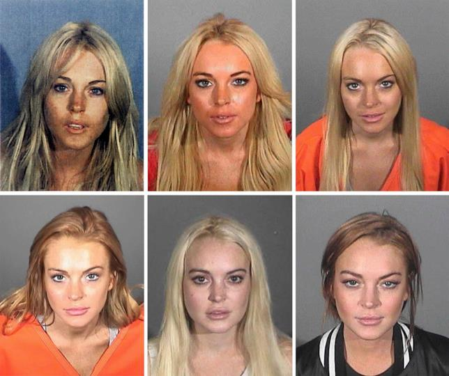 Lindsay Lohan, tutte le foto segnaletiche