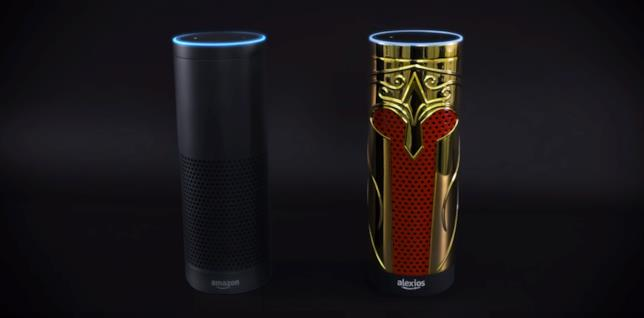 Alexios affianca Alexa su un dispositivo Amazon Echo