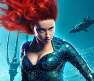 Amber Heard nei panni di Mera nel character poster di Aquaman