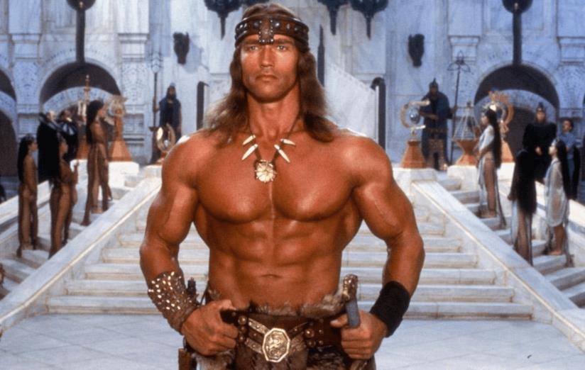 Arnold Schwarzenegger in una scena di Conan il distruttore