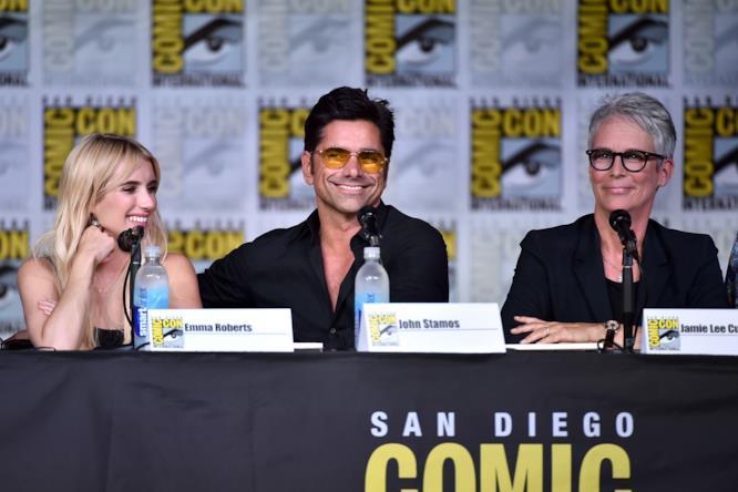 Emma Roberts, John Stamos e Jamiee Lee Curtis al Comic-Con
