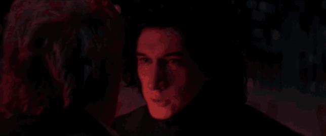 GIF di Kylo Ren che uccide Han Solo
