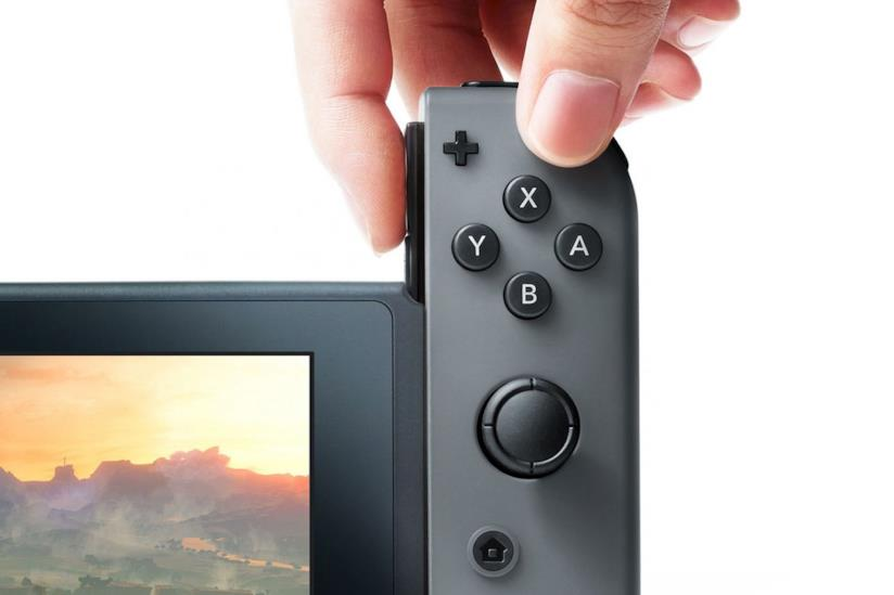 Close-up sui JoyCon di Nintendo Switch