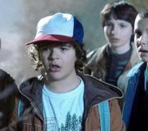 I protagonisti di Stranger Things: Lucas, Dustin, Mike e Undici