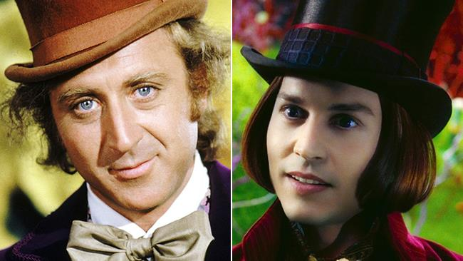 Gene Wilder e Johnny Depp nei panni di Willy Wonka