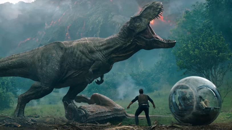 Un'immagine promozionale di Jurassic World: Il Regno Distrutto