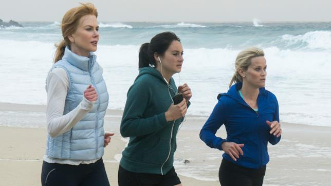 Reese Witherspoon, Nicole Kidman e Shailene Woodley in una scena di Big Little Lies