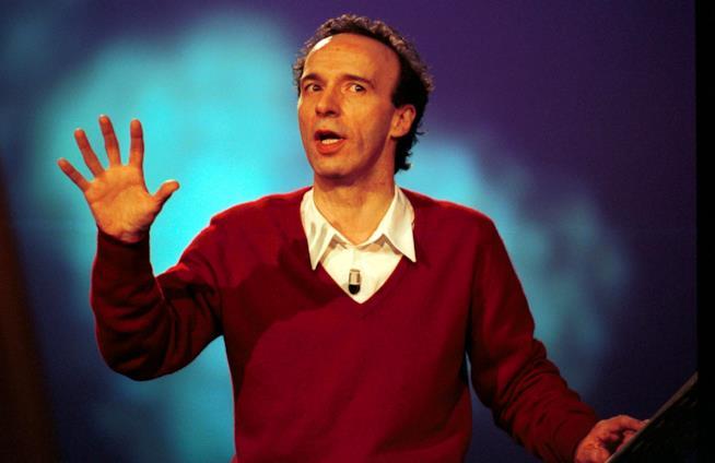 Roberto Benigni in teatro
