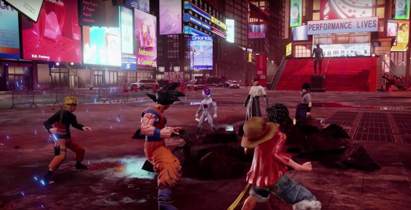 Un'immagine di gioco da Jump Force