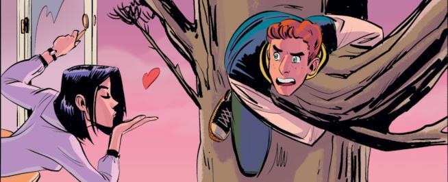 Veronica lancia un bacio ad Archie, appeso ad un albero