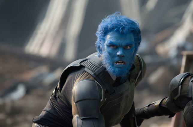 Nicholas Hoult come Bestia in X-Men - Apocalisse