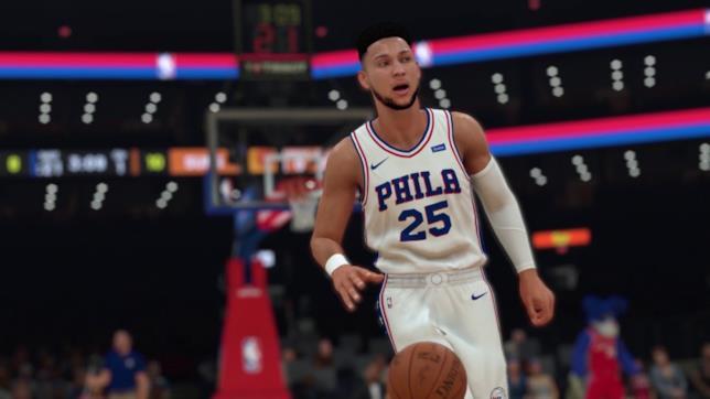 Un'immagine di gioco dedicata a NBA 2K19
