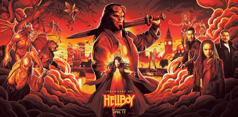 L'esclusivo poster di Hellboy per il NYCC
