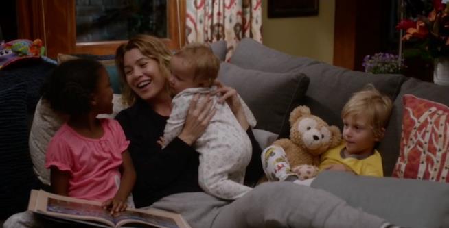 Meredith Grey e i suoi 3 figli: Zola, Bailey e Ellis