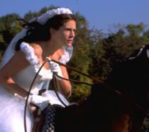 Maggie a cavallo