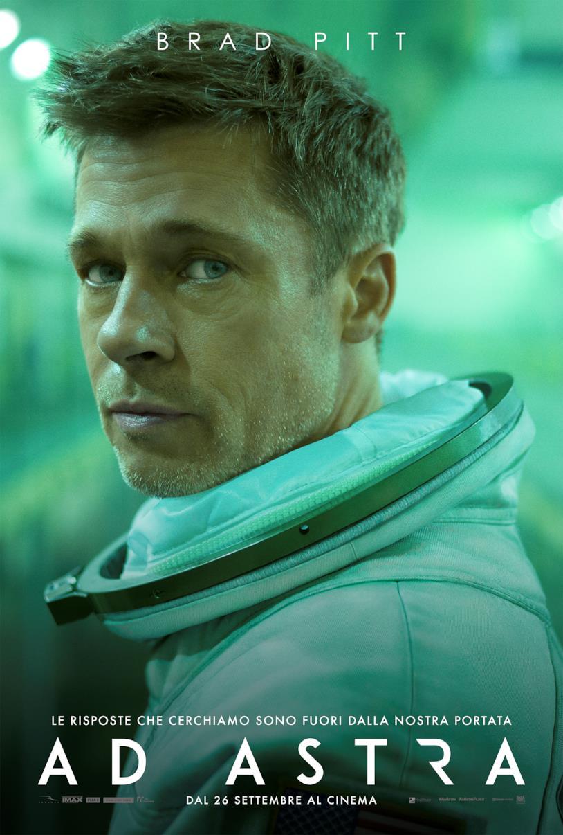 Brad Pitt nel poster italiano di Ad Astra