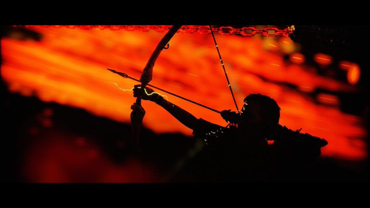 Atreus e il suo arco in uno scatto