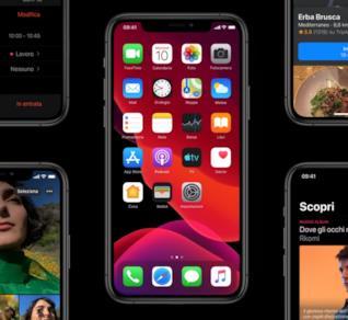 Immagine promozionale di iOS 13