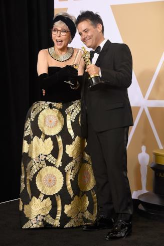 Rita Moreno col regista premio Oscar Sebastián Lelio