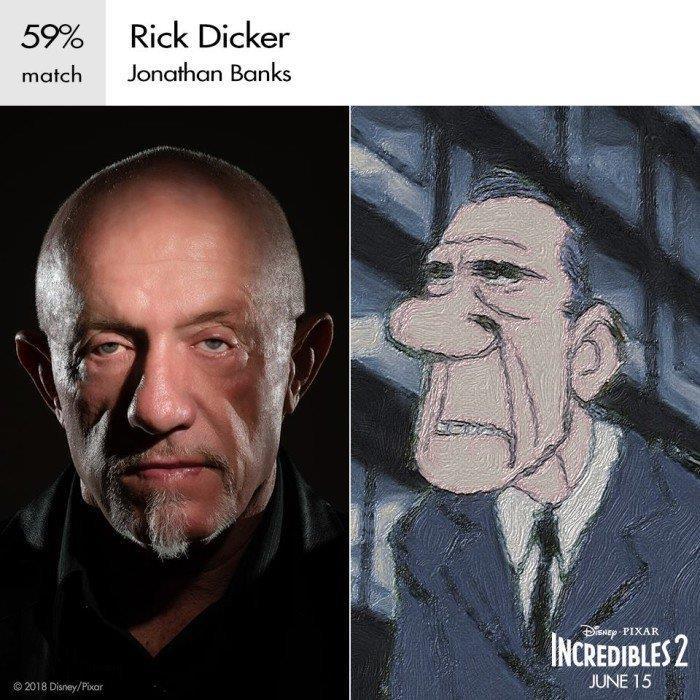 Rick Dicker è doppiato da Jonathan Banks