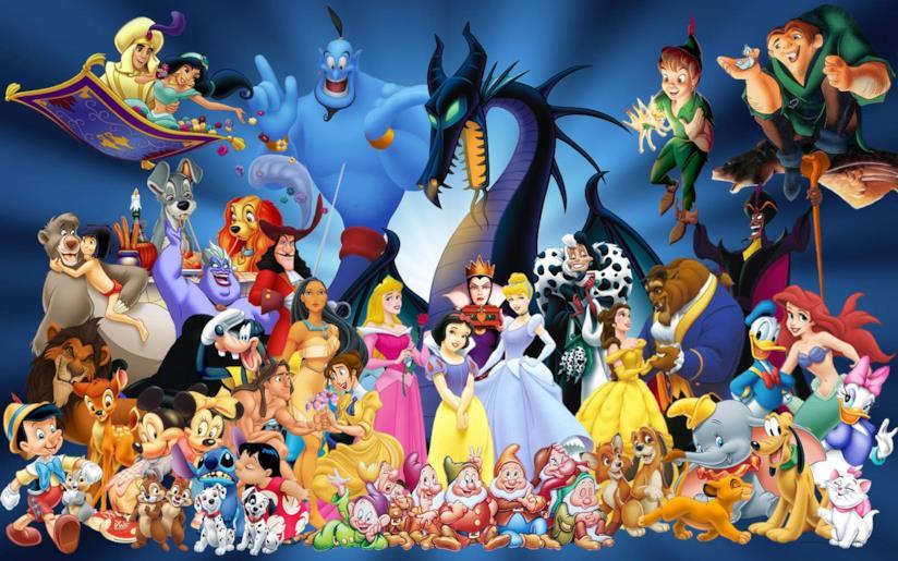 Il mondo animato Disney i personaggi di film e serie tv
