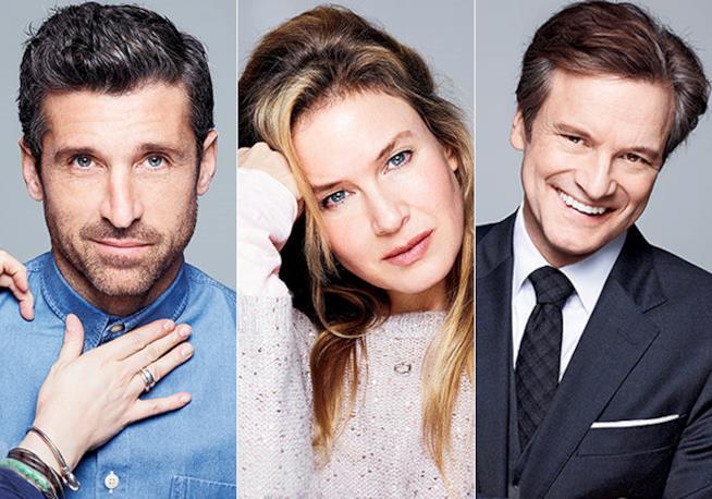 Renée Zellweger, Patrick Dempsey e Colin Firth protagonisti di Bridget Jones' Baby