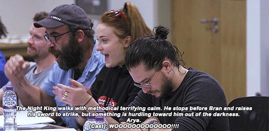 Il cast di Game of Thrones scopre che Arya Stark ucciderà il Re della Notte