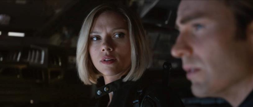 Scarlett Johansson e Chris Evans in Avengers: Endgame