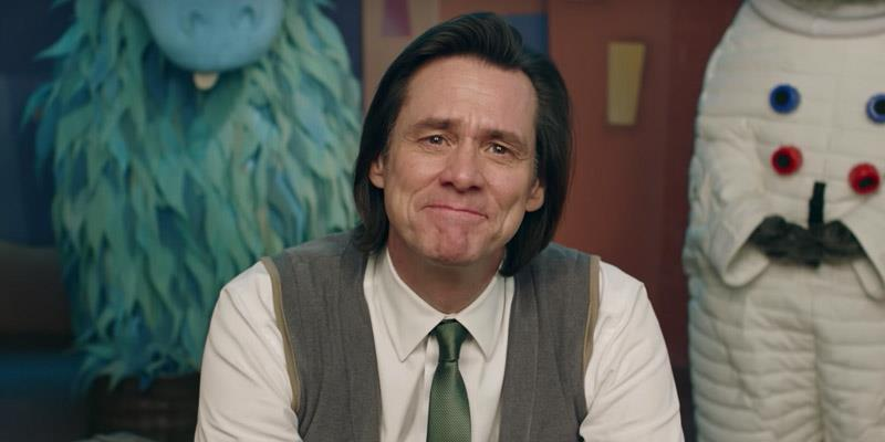 Jim Carrey sorride commosso in Kidding