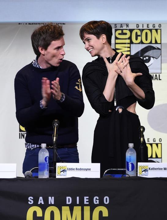Katherine Waterston e Eddie Redmayne al Comic-Con di San Diego