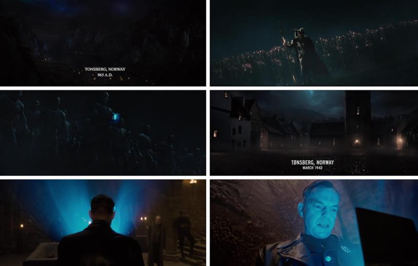 Due scene del MCU, entrambe ambientate a Tønsberg: una appariene a Thor, l'altra al primo Captain America