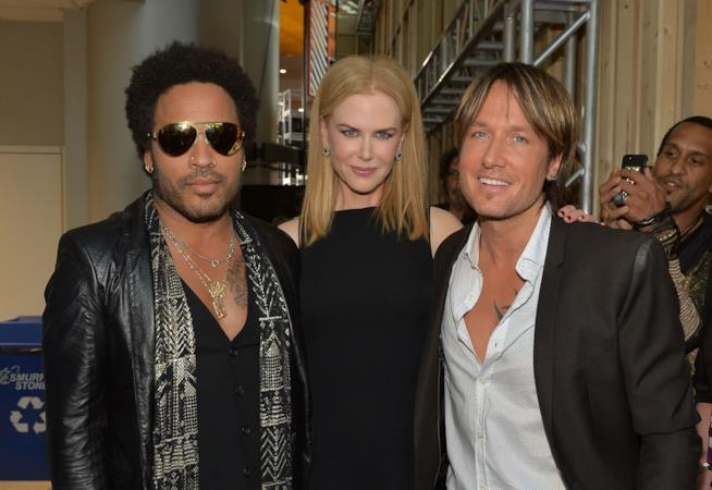 Nicole Kidman tra Lenny Kravitz e Keith Urban