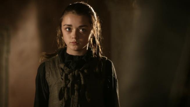 Arya nella prima stagione di Game of Thrones