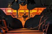La testa di Batman ricostruita con i LEGO