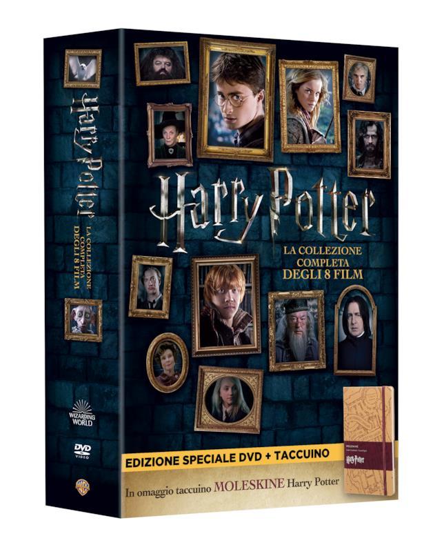 Harry Potter la Collezione Completa DVD con taccuino Moleskine