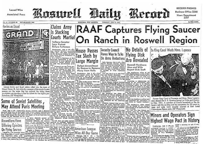 Giornale sull'incidente di Roswell
