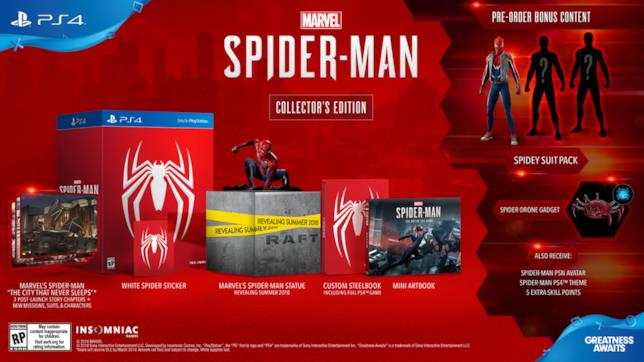 La fantastica Collector's Edition di Marvel's Spider-Man per PlayStation 4