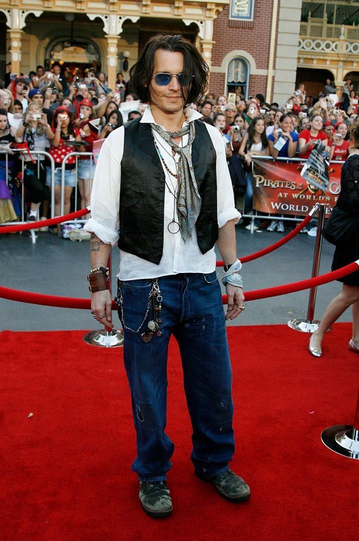 Johnny Depp sul red carpet