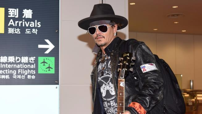 L'attore Johnny Depp in Giappone