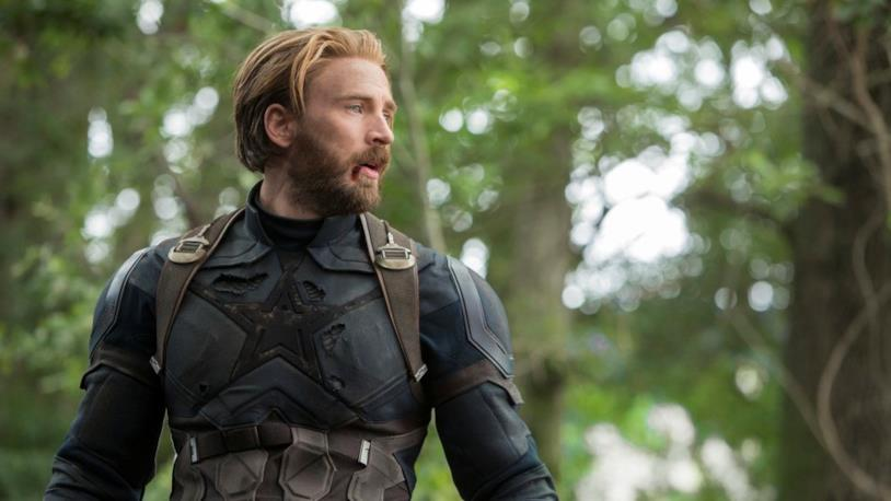 Capitan America in una sequenza di Infinity War