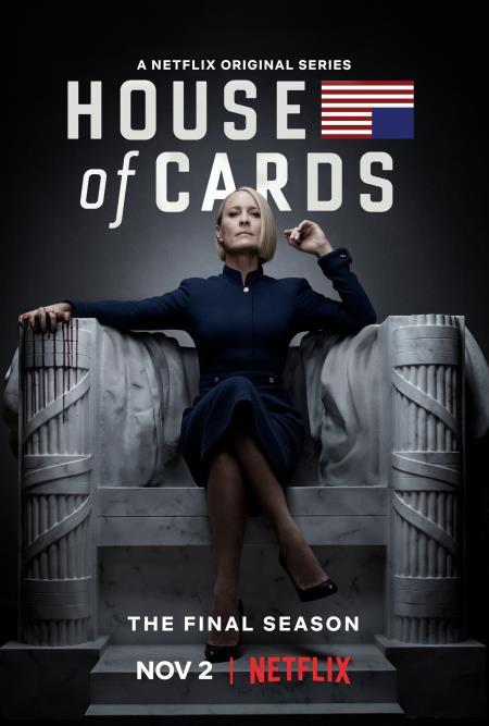 Il poster ufficiale della sesta stagione di House of Cards