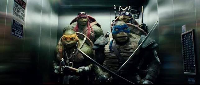 Una scena del film Tartarughe Ninja