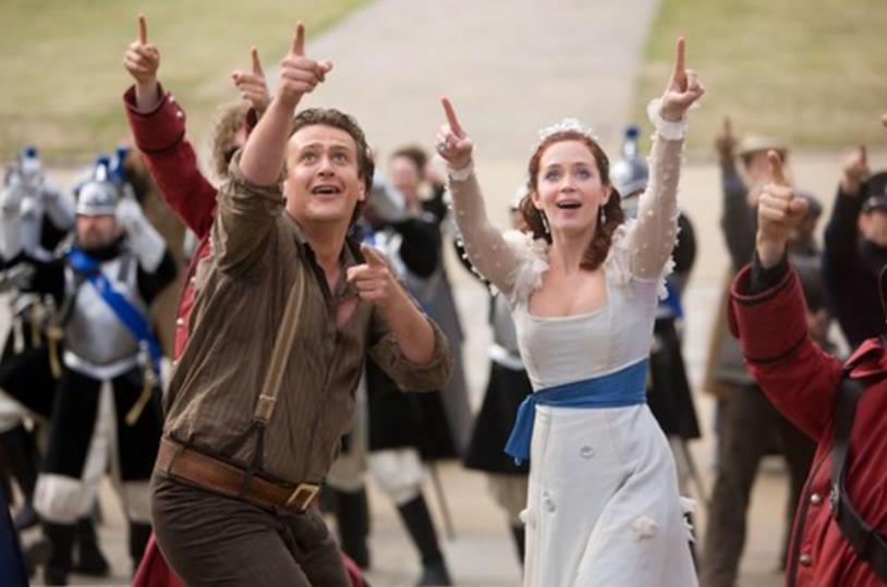Una scena de I viaggi di Gulliver con la principessa