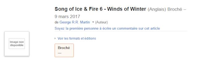 La data di uscita di Winds of Winter